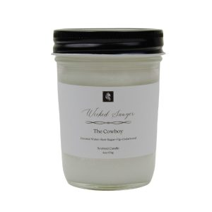 the cowboy masculine scented candle