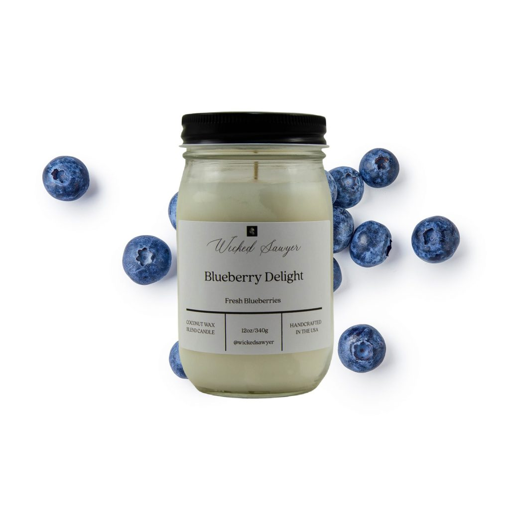 blueberry fruity scented candle