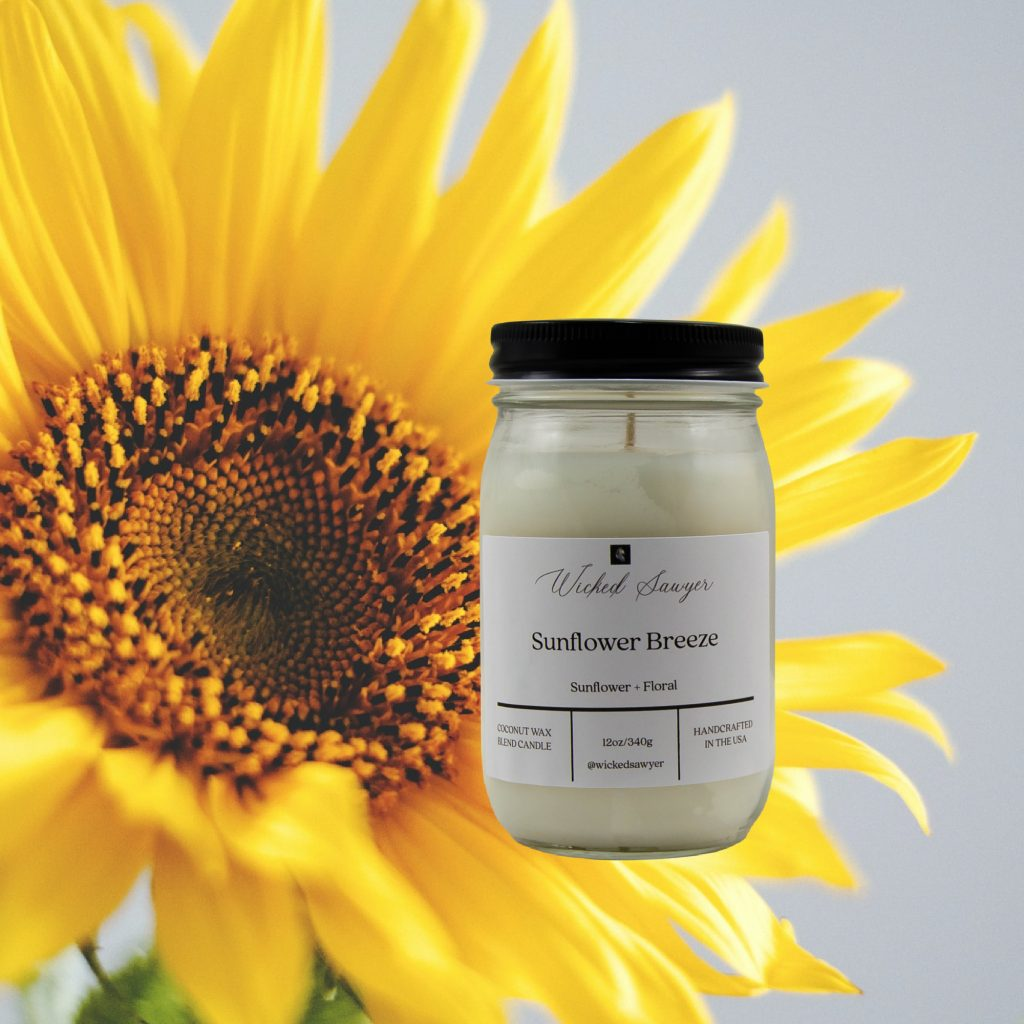 Sunflower Floral Scented Candle