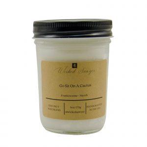 frankincense myrrh coconut wax scented candle