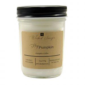 pumpkin coffee farmhouse mason jar scented candle